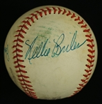 Bob Purkey & Nellie Briles Dual Signed Game Used ONL Leonard Coleman Baseball