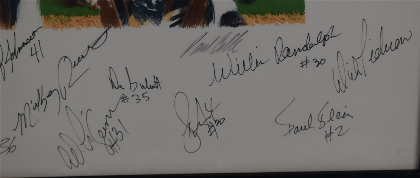 New York Yankees 1978 World Series Championship Lithograph w/24 Signatures
