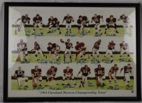Cleveland Browns 1964 NFL Championship Team Signed Lithograph w/24 Signatures