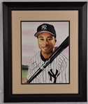 Bernie Williams Signed Original James Fiorentino Watercolor Painting