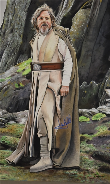 Luke Skywalker Original James Fiorentino Watercolor Painting Signed by Mark Hamill