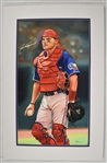 Ivan Rodriguez Original James Fiorentino Watercolor Painting Signed by Pudge