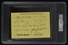 No Hitters Signed Card PSA/DNA