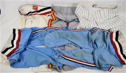 Collection of 5 Pairs of Game Used Baseball Pants