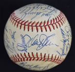 National League 1987 Team Signed All Star Baseball w/Schmidt & Smith