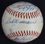 American League 1958 Team Signed All-Star Baseball w/Ted Williams