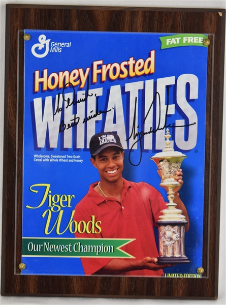 Tiger Woods Autographed Wheaties Box