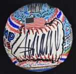 Donald Trump One-Of-A-Kind Charles Fazzino Baseball