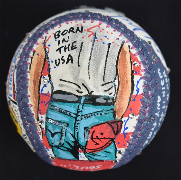 Bruce Springsteen One-Of-A-Kind Charles Fazzino Baseball