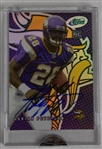 Adrian Peterson Signed 2007 eTopps Rookie Football Card