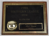 Ken Dixon 1984 Southern League All Star Team Award