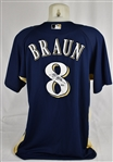 Ryan Braun 2010 Milwaukee Brewers BP Jersey MLB Authentication w/Light Use