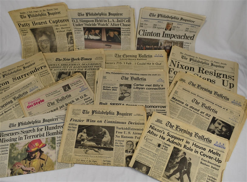 Collection of 24 Various Historic Newspapers