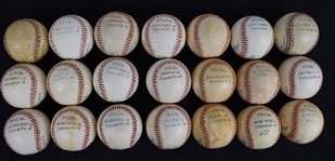 Jack Morris Lot of 21 Game Used 1992 Victory Baseballs World Series Championship Season