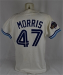 Jack Morris 1992 Toronto Blue Jays World Series Game Used Jersey w/Dave Miedema LOA