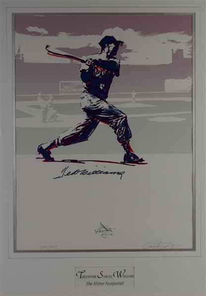 Ted Williams Autographed Carlo Beninati Framed Serigraph