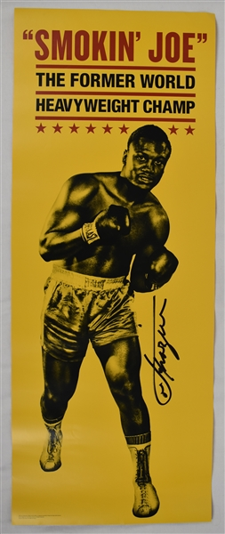 Joe Frazier Autographed Fight Poster