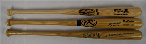 Billy Williams Lot of 3 Autographed Bats