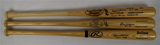 Dick Williams & Earl Weaver Lot of 3 Autographed Bats