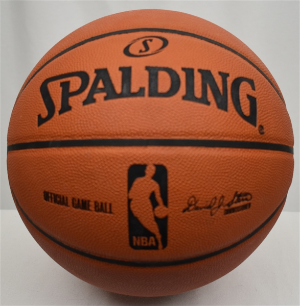 Rick Barry Autographed & Inscribed Basketball