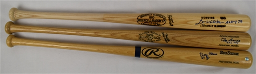 Rookie of the Year Lot of 3 Autographed Bats