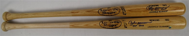 Andre Dawson Lot of 2 Autographed Bats