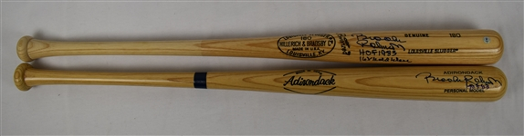 Brooks Robinson Lot of 2 Autographed Bats