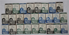 Full Set of 26 Goudey 1937 R342 Thum Movies Parts 1 & 2