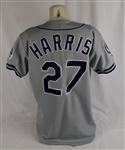 Greg Harris 1993 Colorado Rockies Professional Model Jersey w/Team LOA