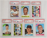 Collection of 7 PSA Graded 1966 Topps Baseball Cards