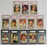 Collection of 13 PSA & SGC Graded 1952 Topps Baseball Cards