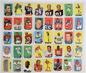 Collection of 40 Topps 1964 Football Cards
