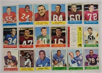 Collection of 18 Philadelphia 1964 Football Cards