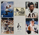Collection of 6 Autographed Photos & Postcards w/Gale Sayers