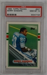 Barry Sanders 1989 Topps Traded Rookie Card PSA 10 Gem Mint