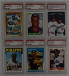 Collection of 6 PSA Graded Rookie Cards w/Frank Thomas & Barry Bonds