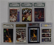 Collection of 7 Graded Basketball Cards w/Michael Jordan