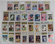 Collection of 31 Graded Baseball Cards w/Ken Griffey Jr.