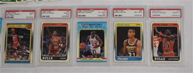 Fleer 1988 Basketball Card Set PSA w/Michael Jordan
