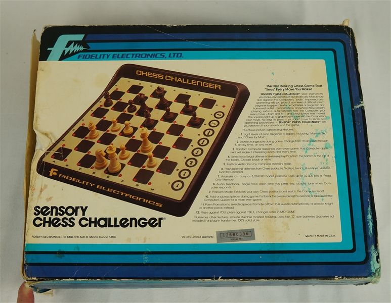 Vintage 1982 Sensory Chess Challenger by Fidelity Electronics