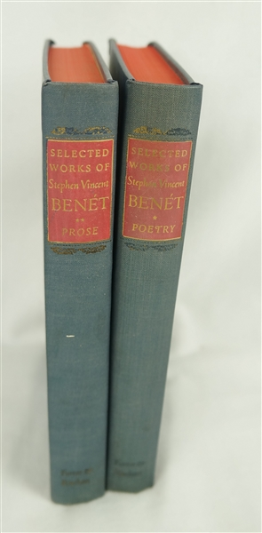 Stephen Vincent Benet 1942 Volume I Poetry & Volume II Prose Books