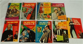 The Man From U.N.C.L.E & The Girl From U.N.C.L.E Lot of 9 Comic Books