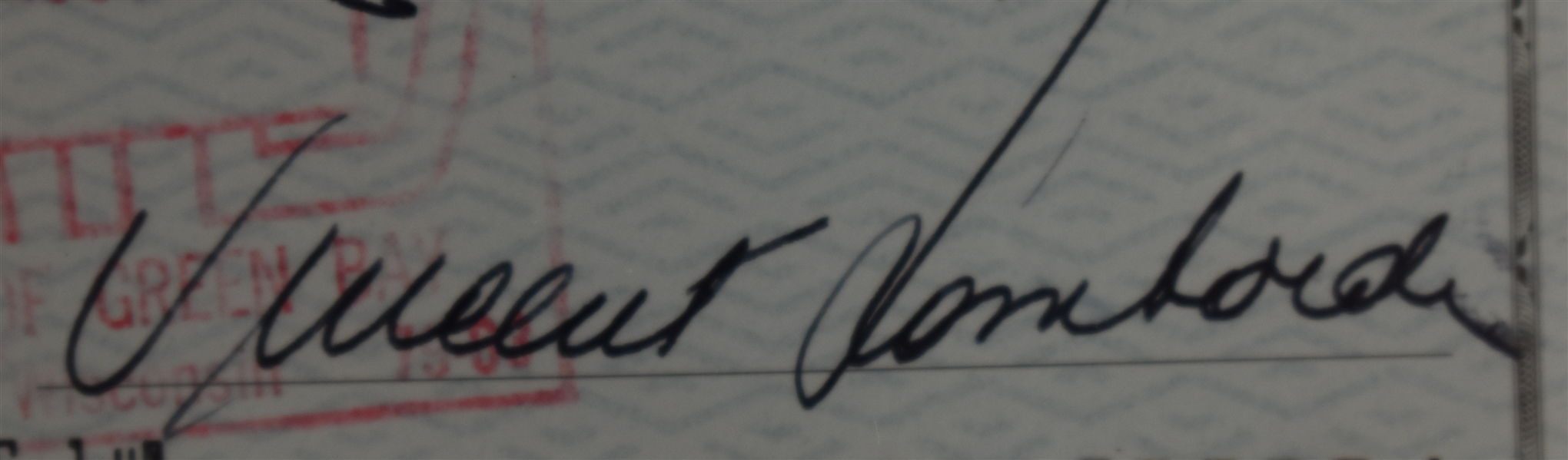 Vince Lombardi Signed 1968 Personal Check #292 BGS Authentic *Twice Signed Vince Lombardi*