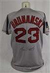 Tom Brunansky 1992-94 Boston Red Sox Game Used Jersey w/Dave Miedema LOA