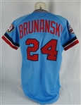 Tom Brunansky 1986 Minnesota Twins Game Used Jersey w/Dave Miedema LOA
