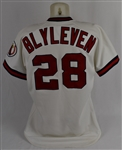 Bert Blyleven 1989 California Angels Game Used Jersey w/Dave Miedema LOA