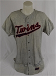 Ron Perranoski 1970 Minnesota Twins Game Used Flannel Jersey & Pants w/Dave Miedema LOA