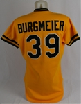 Tom Burgmeier 1983 Oakland Athletics Game Used Jersey w/Dave Miedema LOA