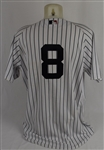 Yogi Berra 2009 New York Yankees Old Timers Game Used Jersey w/Dave Miedema MLB & Steiner LOA