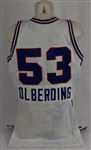 Mark Olberding 1986-87 Sacramento Kings Game Used Jersey w/Dave Miedema LOA